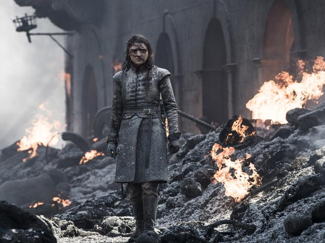 Arya emerged as pretty much the only person alive following the bloodbath in King's Landing. Picture: Supplied/HBO