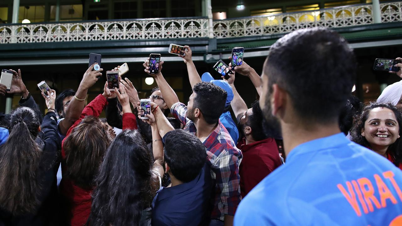 Kohli was a massive drawcard this summer for fans, and on a special night at the SCG, Pierse managed to snap a truly intriguing photo which begins to capture the aura that surrounds the Indian captain.