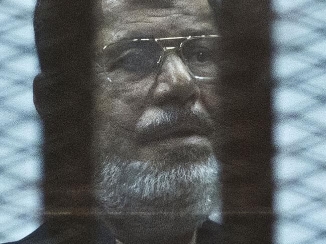 Egypt's former Islamist president Mohamed Morsi collapsed and died after fainting in a court session. Picture: Khaled Desouki / AFP