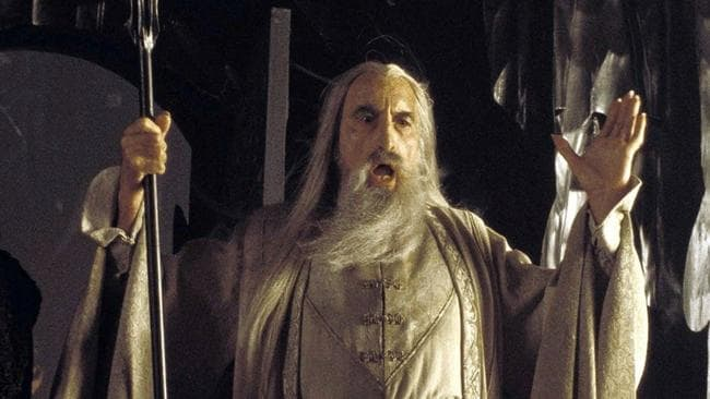 6df9910dd9d Lord of the Rings actor Christopher Lee has just dropped a heavy metal  Christmas song. Picture  APSource News Corp Australia