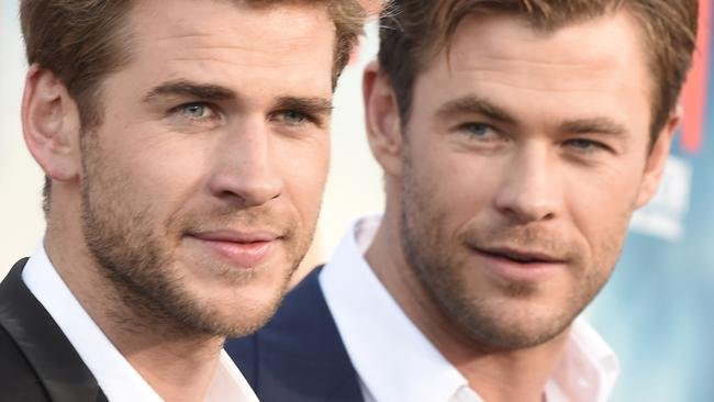 Liam Hemsworth and Chris Hemsworth in 2015.