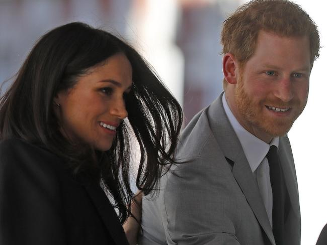 Britain's Prince Harry and his fiancee Meghan Markle. Picture: AP