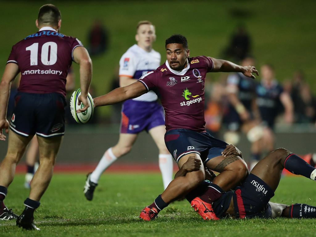 Chris Feauai-Sautia was a handful for the Rebels last week. Picture: Mark Metcalfe/Getty Images