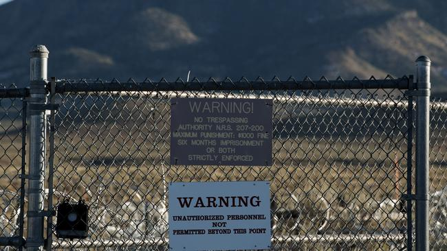Area 51 in Nevada, US is secretive and heavily protected. Picture: Bridget Bennett / AFP.