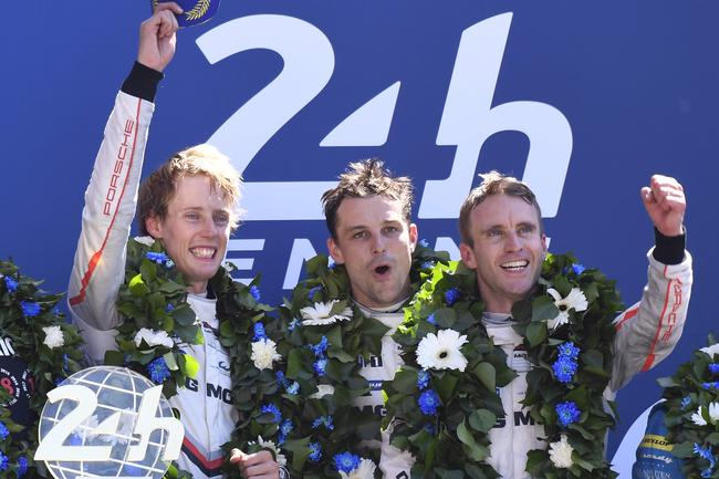 Hartley, Bamber and Bernhard atop the podium — and on top in the championship.