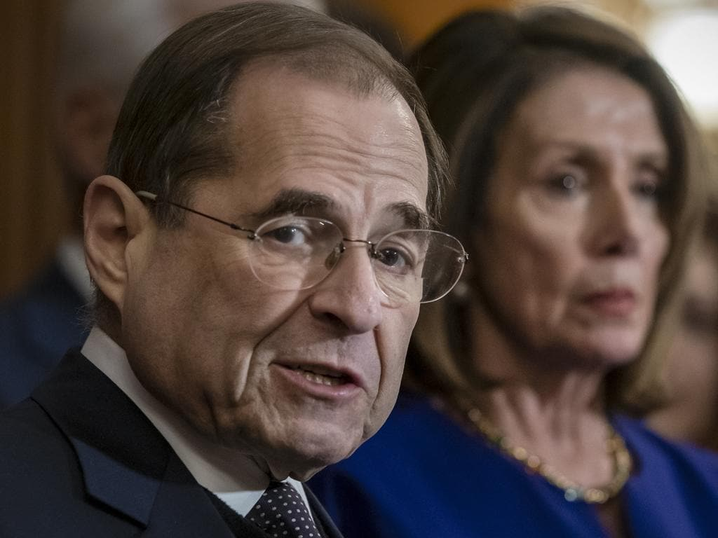 """House Judiciary Committee Chairman Jerrold Nadler and Speaker of the House Nancy Pelosi are spearheading a hearing to examine Mr Trump's """"high crimes and misdemeanors"""" as set out in the Constitution. Picture: AP Photo/J. Scott Applewhite, File"""