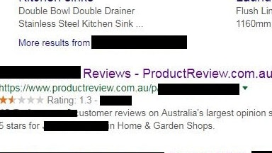 A business's product review rating is often one of the first things that comes up when you search it. Picture: Product Review/Supplied