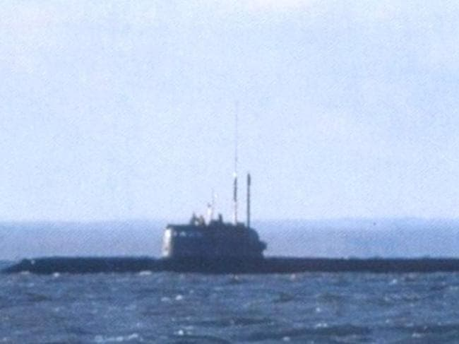 Another view of a Russian submarine believed to be Losharik. Picture: Russian Social Media