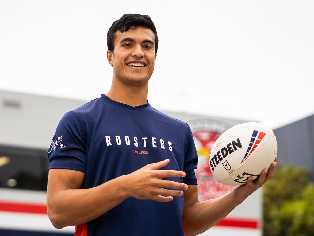 Sydney Roosters new signing Joseph Suaalii. Picture: Roosters Digital