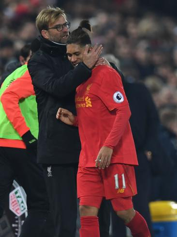Liverpool's German manager Jurgen Klopp could also be without Brazilian attacker Roberto Firmino who sustained a calf injury against Sunderland.