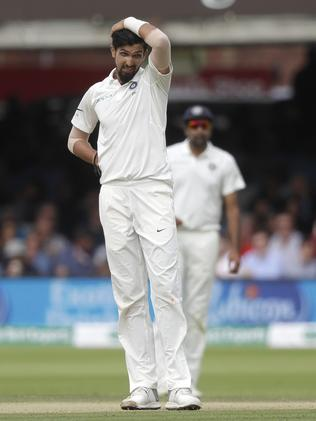 India's Ishant Sharma looks on after bowling. Picture: AP
