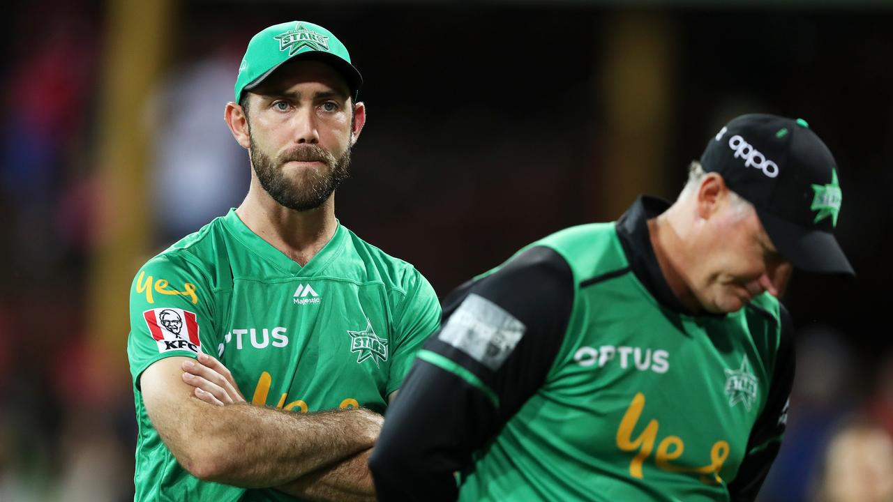 Glenn Maxwell after the Big Bash final loss. (Photo by Mark Kolbe/Getty Images)