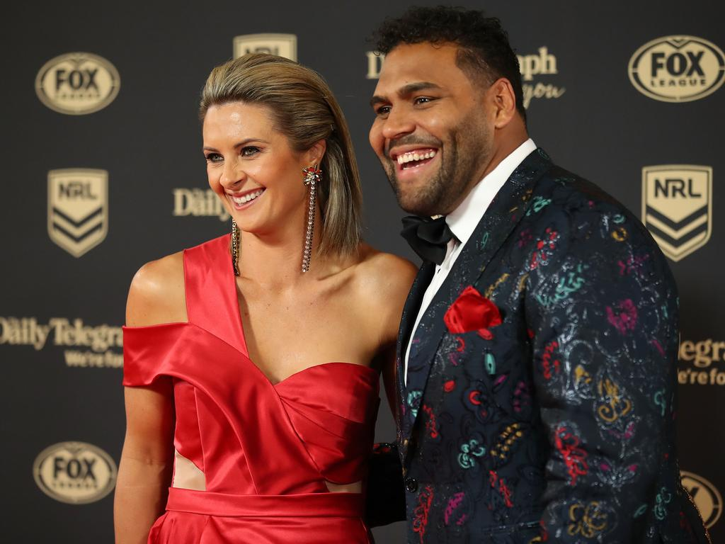 Robin Thaiday's stunning dress nearly --  <i>nearly </i>-- distracted us from the loud blazer worn by the great retiring Sam Thaiday.