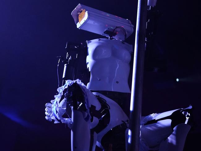 A robot dancer putting on a show. Picture: AFP