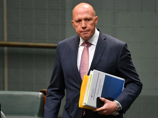 Home Affairs Minister Peter Dutton's popularity has dipped in the recently polls. Picture: AAP /Mick Tsikas.