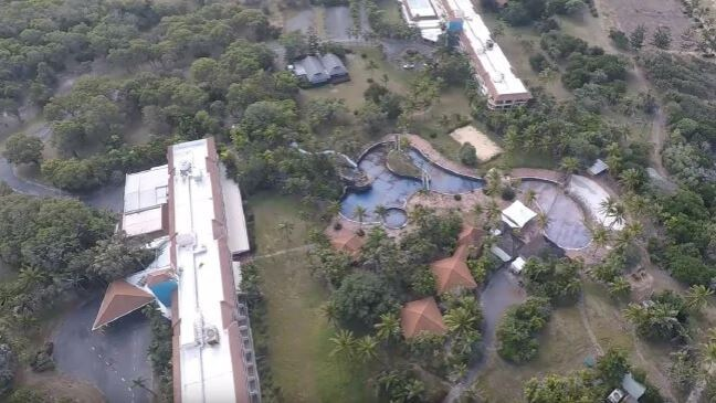 Drone vision showing the current state of the once five star Capricorn International Resort has angered its caretakers.