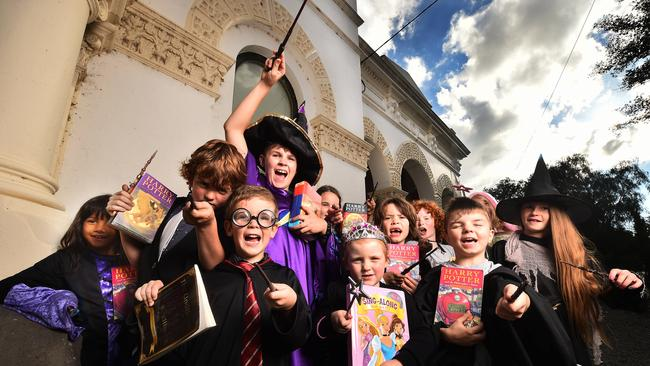 Harry Potter fans at a recent Clunes Booktown Festival. Picture: Rob Leeson.