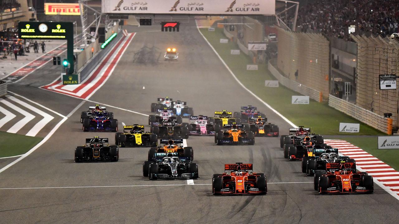 The start of the 2019 Bahrain race.