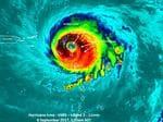 In a unique image, NASA-NOAA's Suomi NPP satellite passed over Hurricane Irma when the island of Barbuda was in the center of the storm's eye. Picture: NASA/NOAA/UWM-CIMSS, William Straka III
