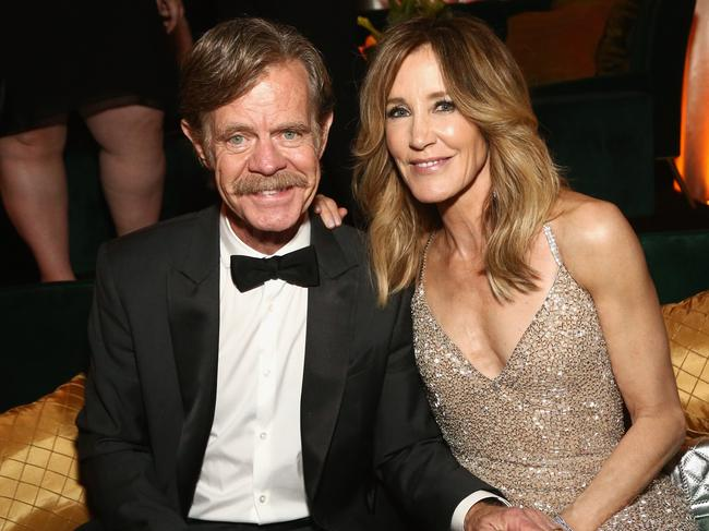 Felicity Huffman, right, and husband William H. Macy. Picture: Getty Images