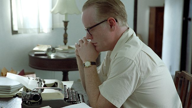 Actor Philip Seymour Hoffman in a scene from the 2005 film 'Capote'.