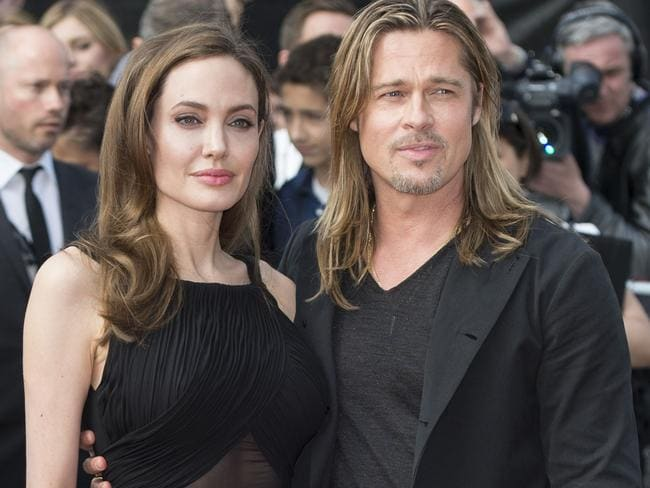 Angelina Jolie and Pitt at the world premiere of World War Z in 2013. Picture: Mark Cuthbert/Getty Images