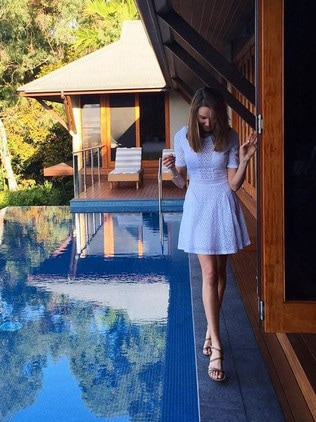 Australian model and Myer ambassador Rachael Finch has stayed at the luxurious resort. Picture: rachael_finch/Instagram