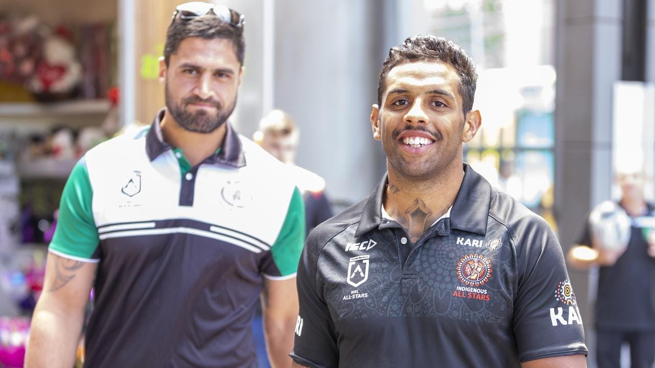 Josh Addo-Carr (right) and Jesse Bromwich will take part in the Indigenous vs Maori All Stars game.