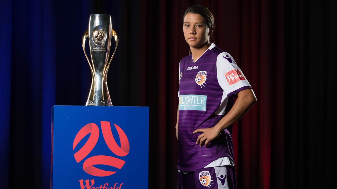 Sam Kerr is a star. (Photo by Mark Metcalfe/Getty Images)