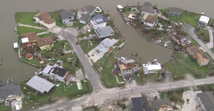 Aerial Footage Shows Hurricane Harvey Aftermath in Rockport. Credit - DVIDS/US National Guard via Storyful