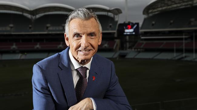 McAvaney is a fixture of Channel 7's sport coverage. Picture: Sarah Reed.