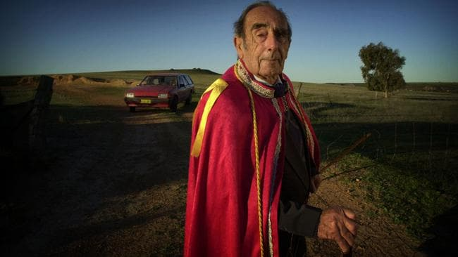 Prince Leonard Casley on his property in Hutt River Province in WA. Picture: Ross Swanborough