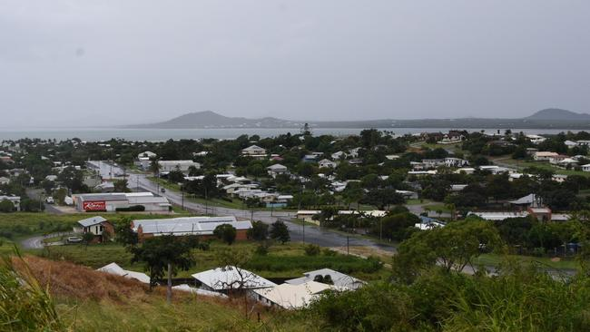 Bowen as seen from the north east of the town's tallest hill, Monday, March 27, 2017. The weather bureau has upgraded Cyclone Debbie to a category three storm as it approaches the north Queensland coast. Picture: AAP Image/Sarah Motherwell.