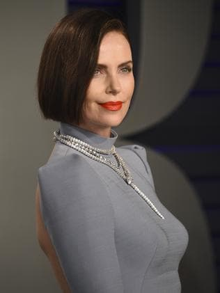 Charlize Theron turns heads as a brunette. Picture: AP