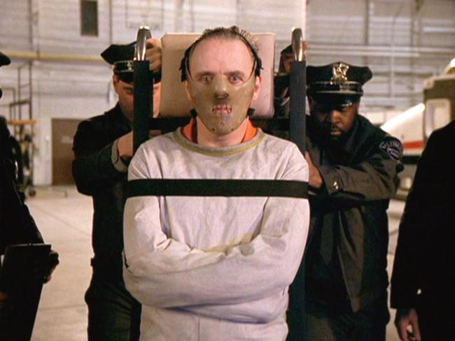 Scene from the 1991 film The Silence of the Lambs, with Anthony Hopkins as Hannibal Lecter. Picture: Supplied
