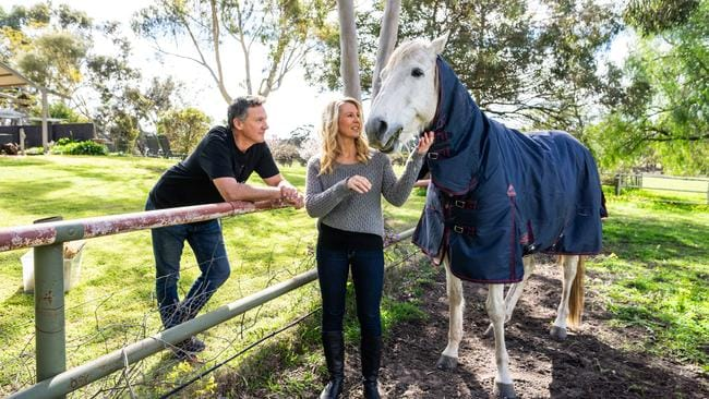 Kerrie and Spence from the Block at their Barossa home. Photo: Nick Clayton.