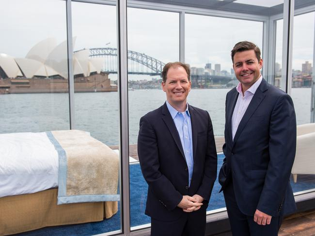 Dr Michael Breus (left) with Princess Cruises' Stuart Allison in Sydney. Picture: Princess Cruises