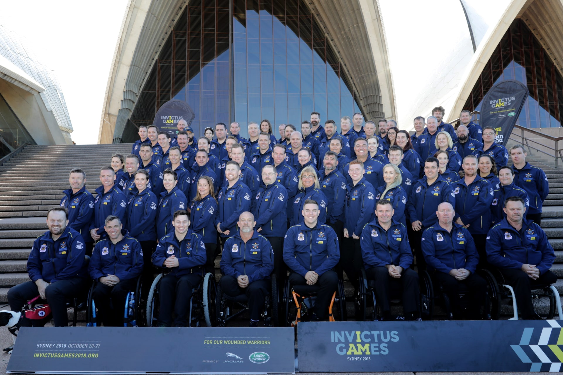 The Australian Invictus Games team on the steps of the Sydney Opera House. Image credit: Commonwealth of Australia Department of Defence