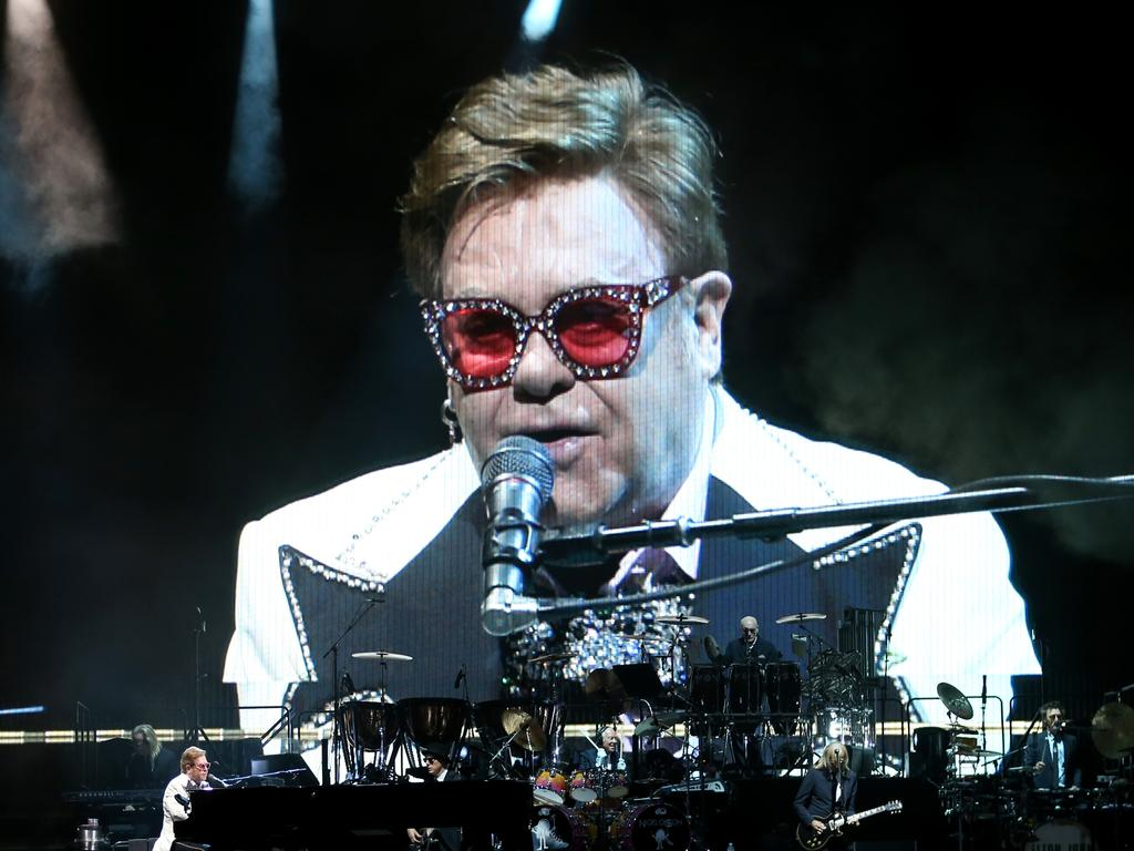 Elton John performs at Bankwest Stadium Parramatta, Sydney. 7th March, 2020. Picture by Damian Shaw