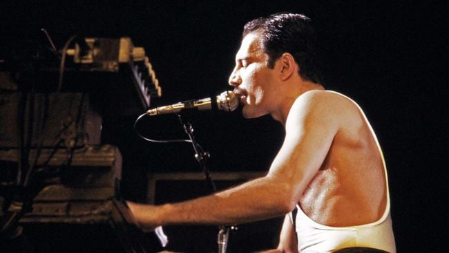 Queen's Freddie Mercury performing in 1984. Picture: Jean-Claude Coutausse / AFP