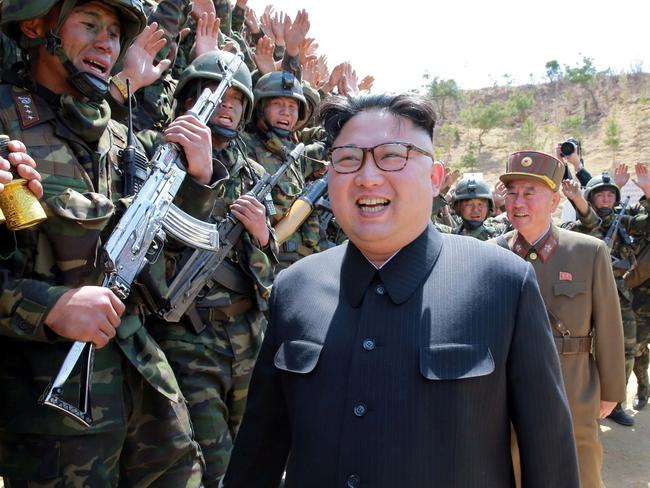North Korean Leader Kim Jong Un says he is ready for war. Picture: Korean Central News Agency