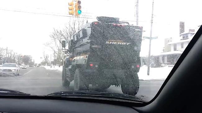 War Machine on the streets of Saginaw County