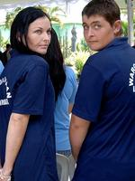 2008 - Australian inmates Schapelle Corby and Renee Lawrence, serving time for two separate drug trafficking charges, during a ceremony inside Kerobokan prison in Denpasar on Indonesian island of Bali. Picture: Supplied