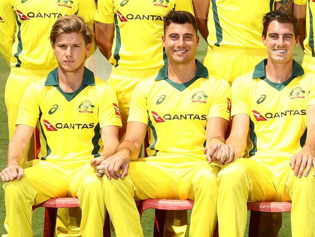 Adam Zampa doesn't look too impressed.