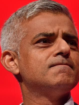London Mayor Sadiq Khan. Picture: AFP