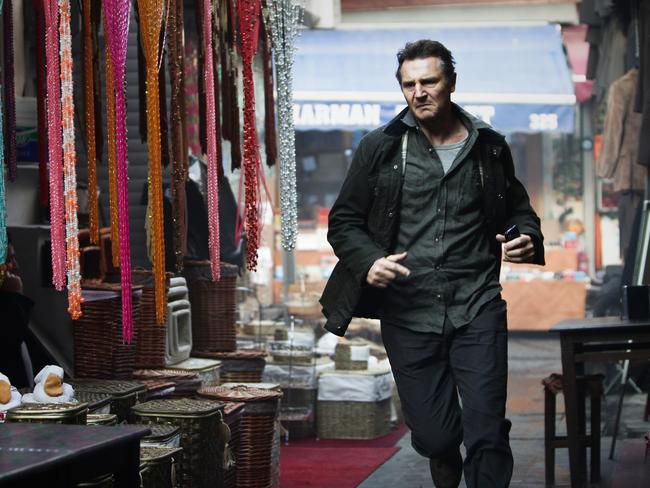 Running man ... Dodgy knees are not stopping Liam Neeson from a life of action.