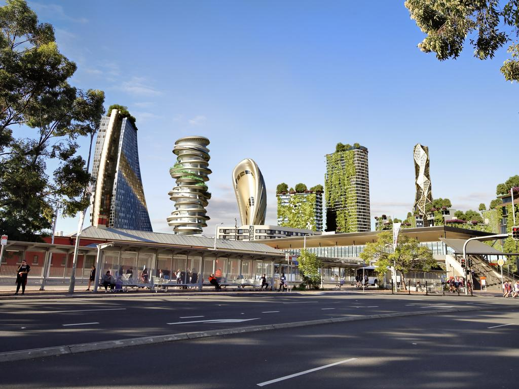 What Penrith is set to look like by 2040.