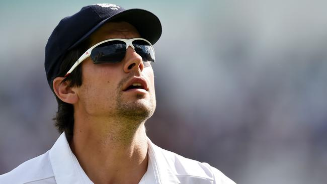 England captain Alastair Cook endured a frustrating day in the field at Trent Bridge.