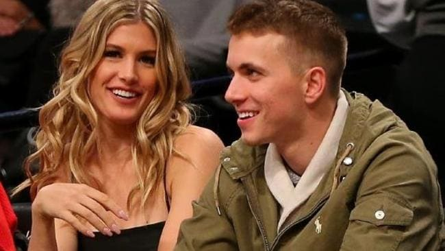 Eugenie Bouchard has stayed in touch with her Super Bowl date.