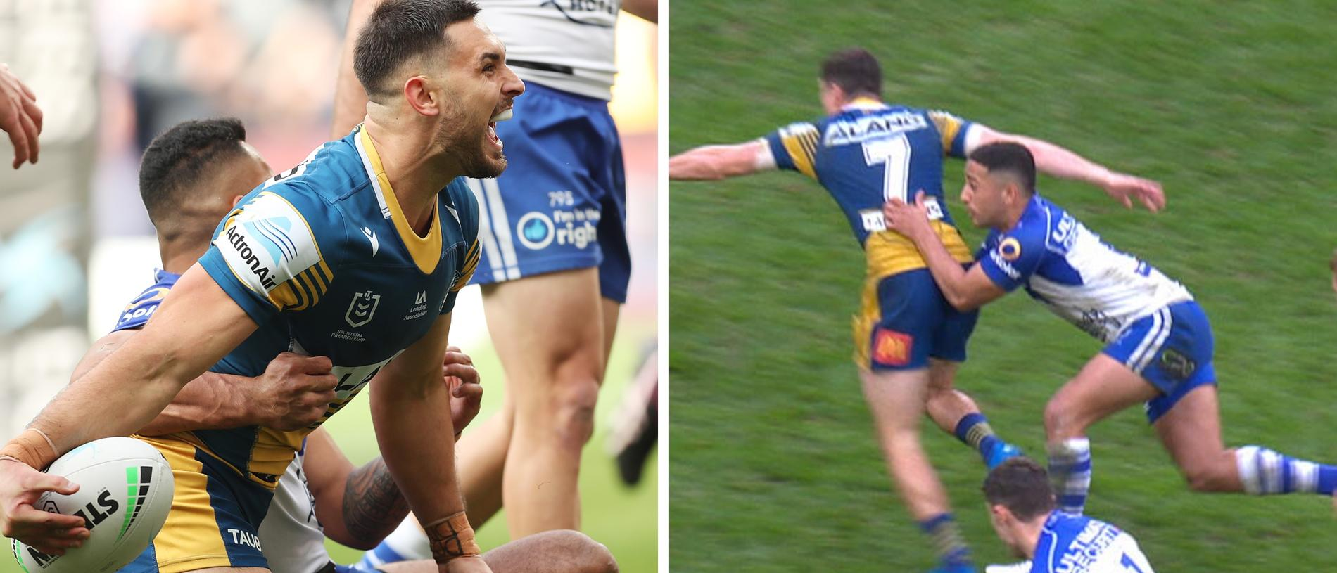 The Eels ran away with the game after a couple of dumb Bulldogs plays.